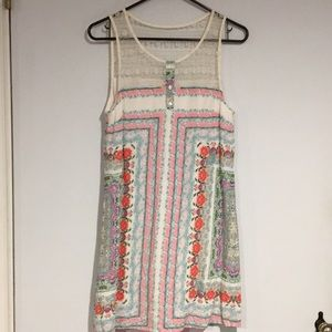 Entro Anthropologie lace top Dress Sz Small